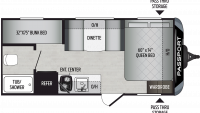 2019 Passport SL Series 175BH Floor Plan
