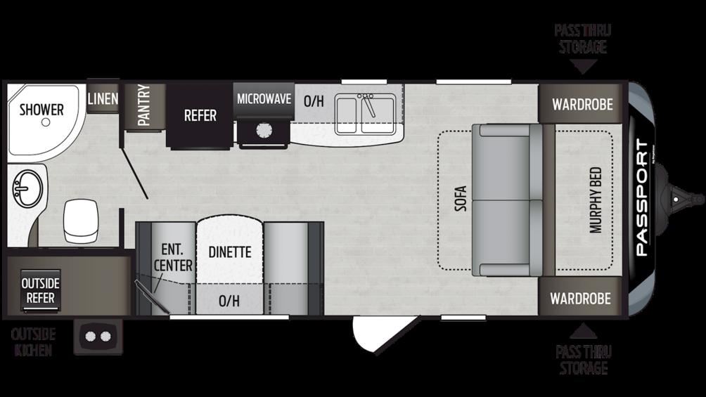 2019 Passport SL Series 197RB Floor Plan Img
