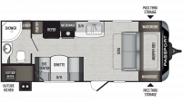 2019 Passport SL Series 197RB Floor Plan