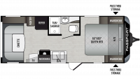 2019 Passport SL Series 216RD Floor Plan