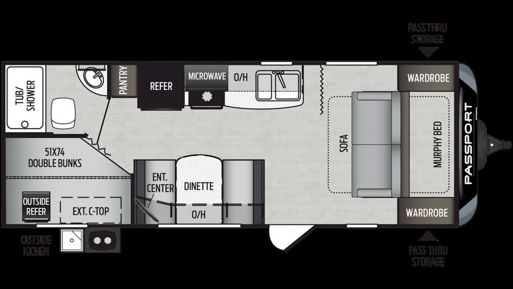 2019 Passport SL Series 239ML Floor Plan Img
