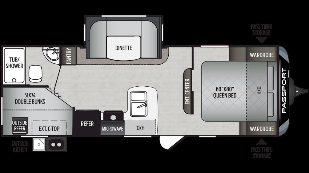 2019 Passport SL Series 240BH Floor Plan Img