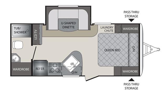 2016 Premier 19FBPR Floor Plan