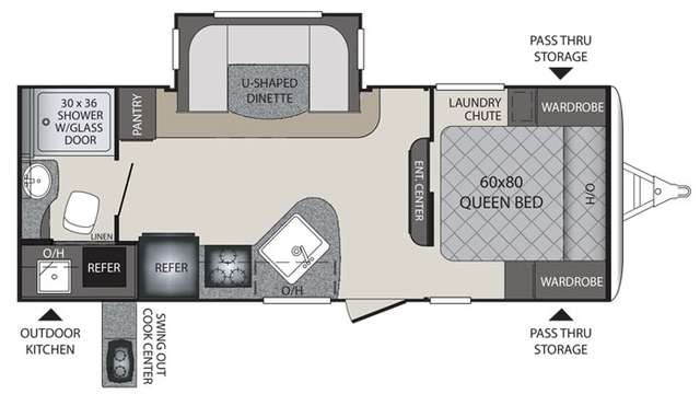 2016 Premier 22RBPR Floor Plan