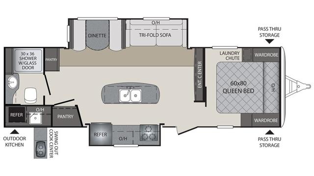 2016 Premier 26RBPR Floor Plan