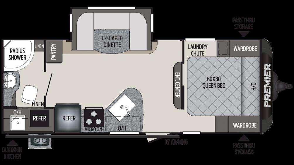2019 Premier 22RBPR Floor Plan Img