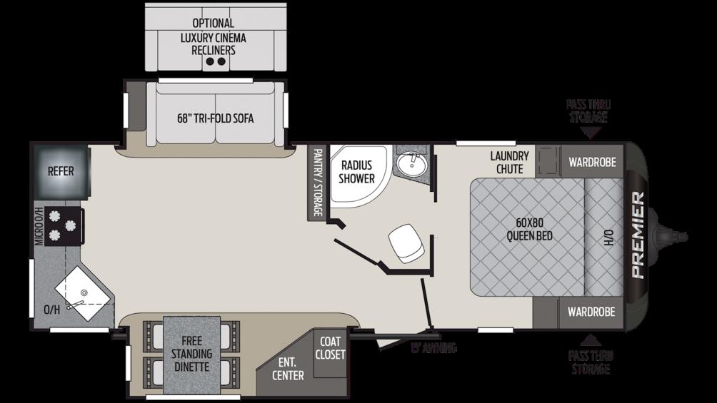 2019 Premier 24RKPR Floor Plan Img