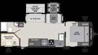 2019 Premier 29BHPR Floor Plan