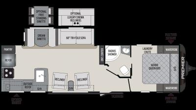 2019 Premier 29RKPR Floor Plan Img