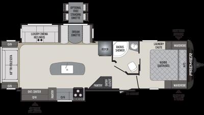 2019 Premier 30RIPR Floor Plan Img