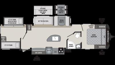 2019 Premier 34BIPR Floor Plan Img