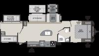 2019 Premier 34BIPR Floor Plan