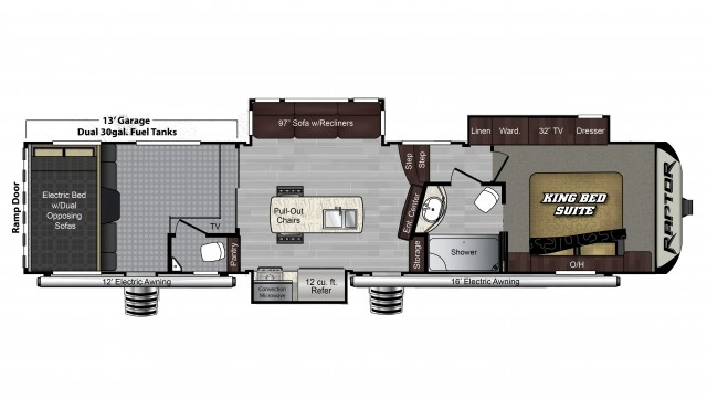 2018 Raptor 353TS Floor Plan