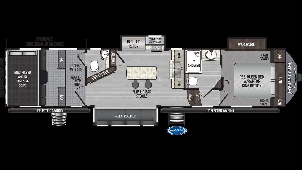 2019 Raptor 356 Floor Plan Img