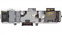 2019 Raptor 398TS Floor Plan