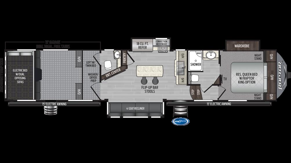 2019 Raptor 415 Floor Plan Img