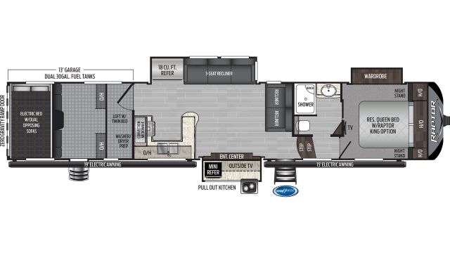 2019 Raptor 423 Floor Plan
