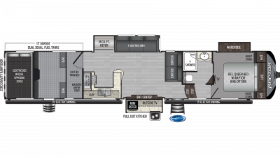 2019 Raptor 423 Floor Plan Img