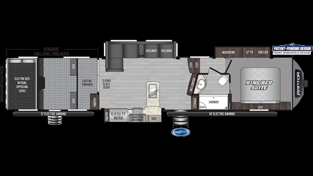 2019 Raptor 424TS Floor Plan Img