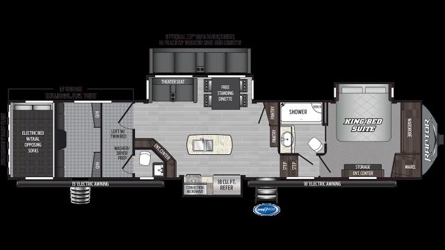2019 Raptor 426TS Floor Plan Img