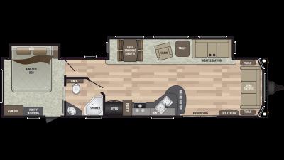 2019 Residence 40FDEN Floor Plan Img