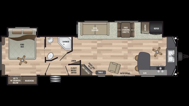 2019 Residence 40FKSS Floor Plan Img
