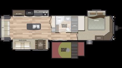 2019 Residence 40FLFT Floor Plan Img