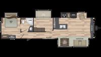 2019 Residence 40MBNK Floor Plan