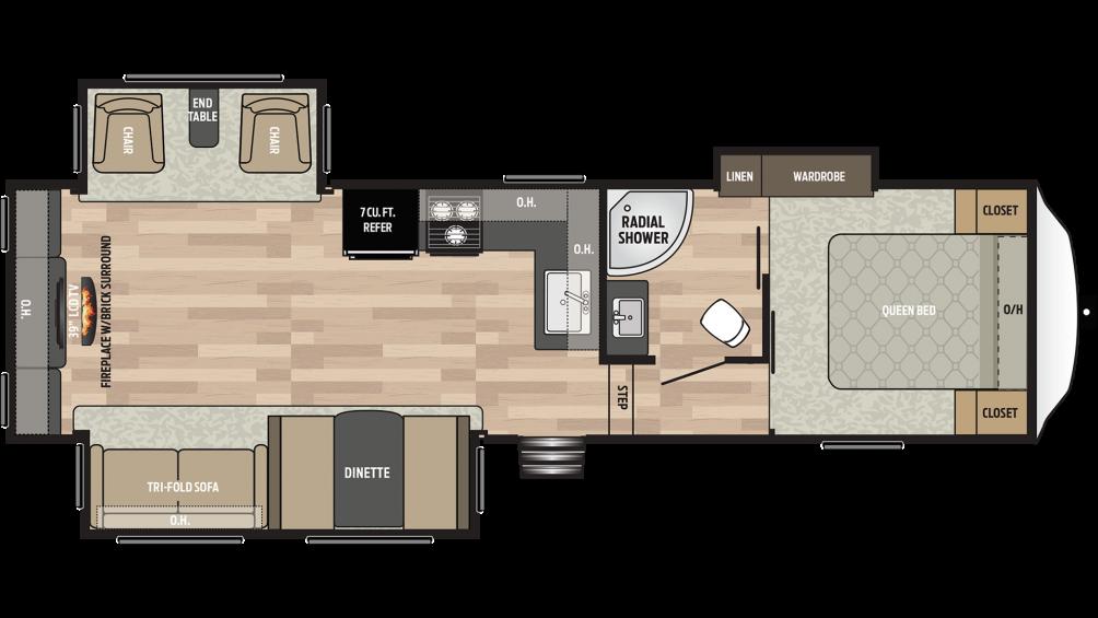 2019 Springdale 253RE Floor Plan Img