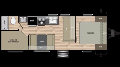 2019 Springdale 260BH Floor Plan Img