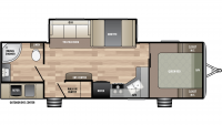 2019 Springdale 274RB Floor Plan