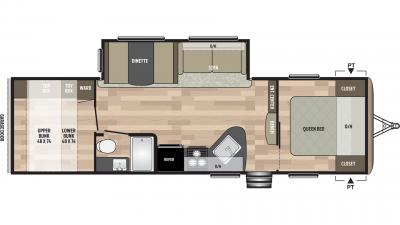 2019 Springdale 296BH Floor Plan Img