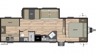 2019 Springdale 298BH Floor Plan Img