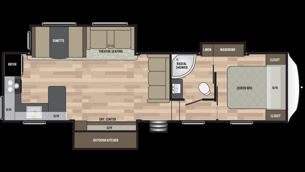 2019 Springdale 302RK Floor Plan Img