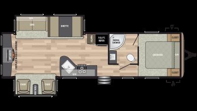 2019 Springdale 311RE Floor Plan Img