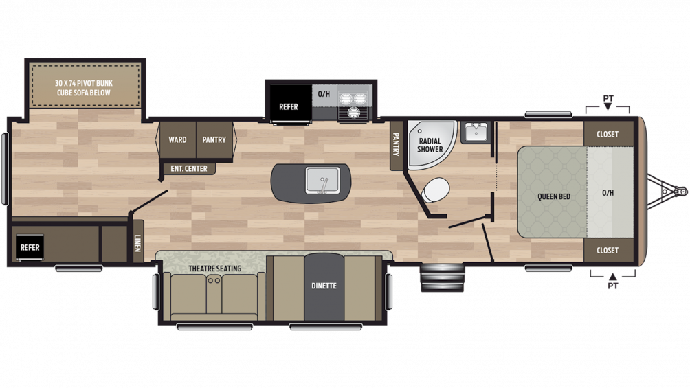 2019 Springdale 332RB Floor Plan Img