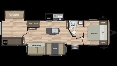 2019 Springdale 332RB Floor Plan Img