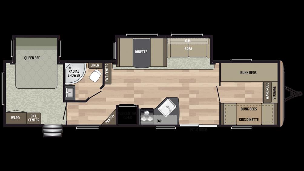 2019 Springdale 38BH Floor Plan Img