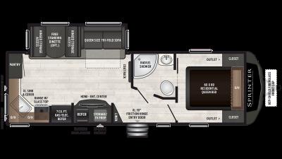2019 Sprinter Campfire Edition 26RK Floor Plan Img