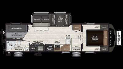 2019 Sprinter Campfire Edition 29DB Floor Plan Img