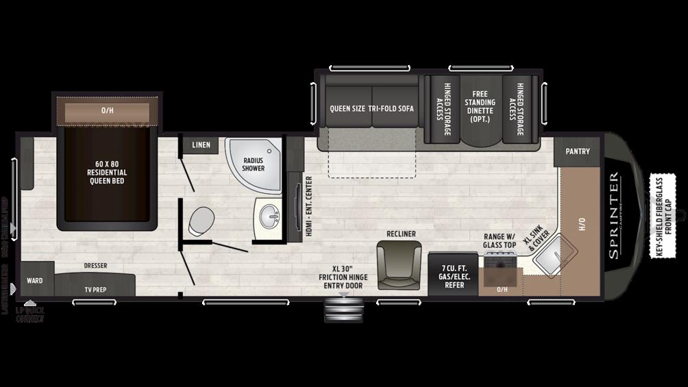 2019 Sprinter Campfire Edition 29FK Floor Plan Img
