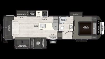 2019 Sprinter Campfire Edition 29FWRL Floor Plan Img