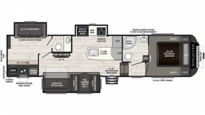 2019 Sprinter Campfire Edition 32FWBH Floor Plan Img
