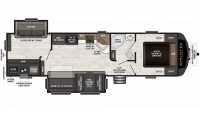 2019 Sprinter Campfire Edition 33BH Floor Plan