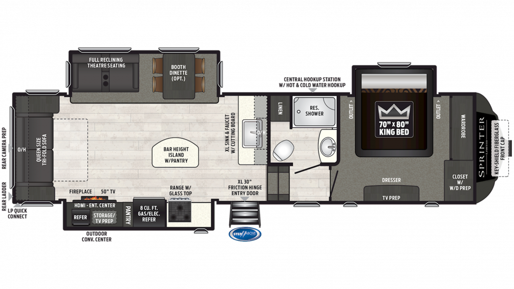 2019 Sprinter Limited 3150FWRLS Floor Plan Img