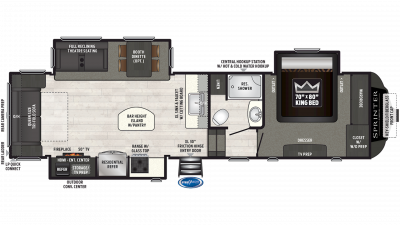 2019 Sprinter Limited 3151FWRLS Floor Plan Img