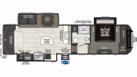 2019 Sprinter Limited 3151FWRLS Floor Plan