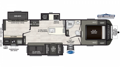 2019 Sprinter Limited 325BMK Floor Plan Img