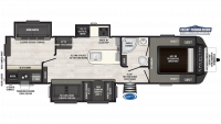 2019 Sprinter Limited 325BMK Floor Plan