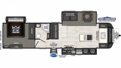 2019 Sprinter Limited 333FKS Floor Plan Img
